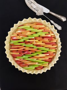 Bicolour apple pie
