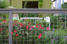 Fence Idea love the flowers on the other side vines plants vines backyards vines ideas Front Yard Fence, Diy Fence, Backyard Fences, Garden Fencing, Lawn And Garden, Home And Garden, Fence Ideas, Driveway Ideas, Side Garden