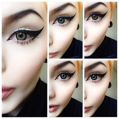 50 Ideas for makeup eyeliner eyeshadows winged liner Makeup Goals, Love Makeup, Makeup Inspo, Makeup Inspiration, Makeup Tips, Makeup Ideas, Subtle Makeup, Kat Von D, Beauty Make-up