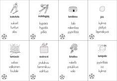 Eriytetty joulu- ja talvisanastomateriaali – Suomi-koulussa Joko, Bullet Journal, Education, Onderwijs, Learning
