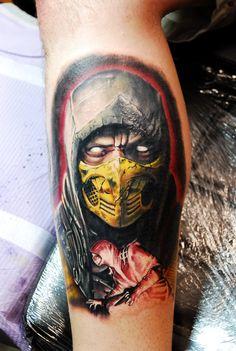 Scorpion, Mortal Kombat, Finish Him, Tattoo