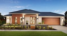 Browse the various new home designs and house plans on offer by Carlisle Homes across Melbourne and Victoria. Find a house plan for your needs and budget today! Family House Plans, Modern House Plans, Modern House Design, House Exterior Color Schemes, Exterior Design, House Roof, Facade House, Carlisle Homes, Future House