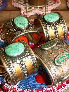 Bohemian Turquoise Cuffs