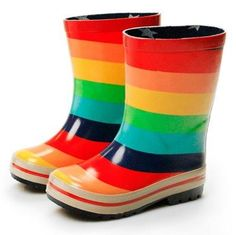 Cute rainbow wellies for cute little feet