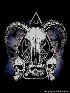 More Commission Artwork by faishalamri on DeviantArt Occult Symbols, Occult Art, Arte Horror, Horror Art, Witchy Wallpaper, Metal Drawing, Satanic Art, Demon Art, Bild Tattoos