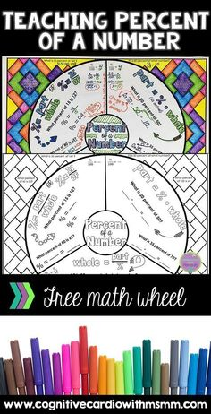 Looking for fun new format for taking notes? Check out this blog post about teaching percent of a number and download the free math wheel! #math #mathlessons