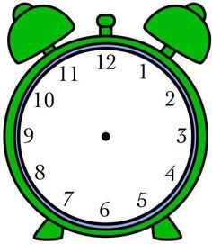 for daily schedule | Clock clipart, Clock, Clock template