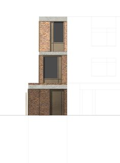 alma-nac:  Facade study (one of many!) for Alma-nac's new super-slim project, Townfield