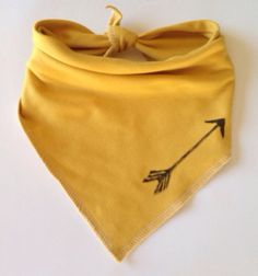 Hand stamped Arrow Bandana bib on Etsy