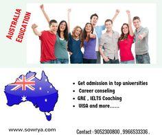Study in austrlia contact - sowrya consultancy www.sowrya.com