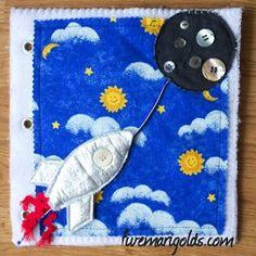 Rocket Space Ship Activity Book / Quiet Book #DIY #sewing