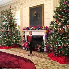 Presidential: The Sweet Home Alabama star looked polished prior to the ceremony, posing in...