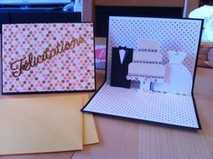 Carte pop up Mariage