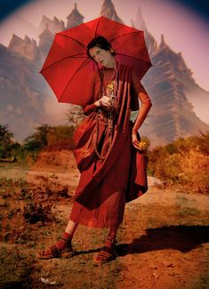 Edie Campbell in 'Gilt Trip' by Tim Walker for W Magazine, May 2014.