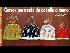 Crochet Ponytail Hat in 4 Sizes – Design Birdy Crochet Cocoon, Crochet Beanie Pattern, Chunky Crochet, Love Crochet, Crochet Yarn, Crochet Patterns, Easter Crochet, Crochet Doilies, Knitted Hats