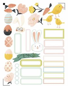Free Printable Easter Planner Stickers from Alison Kimball