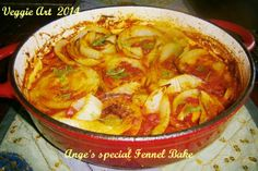 Delightfull Fennel bake!  This dish is simply awesome ... just follow the link and off to the kitchen!  https://www.facebook.com/photo.php?fbid=502524293180719&set=a.393642500735566.1073741848.264202977012853&type=1&theater