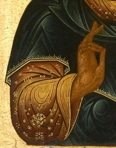 Detailed view: X004. Saviour- exhibited at the Temple Gallery, specialists in Russian icons