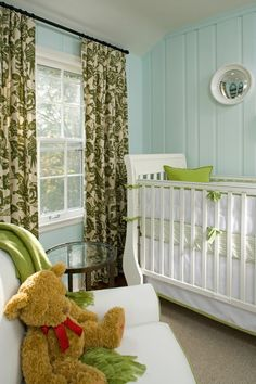 Egg blue, apple green, babies room