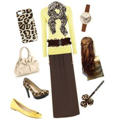 """""""Yellow and leopard !!!"""" by anicbragg on Polyvore"""