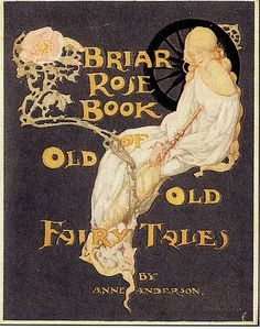 Vintage Book Covers Briar Rose Book of Old Fairy Tales Vintage Book Covers, Vintage Children's Books, Antique Books, Vintage Art, Illustration Art Nouveau, Children's Book Illustration, Book Illustrations, Botanical Illustration, Digital Illustration