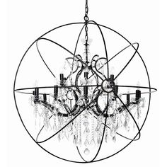 Instil classic elegance in your space with the antique black iron, 18 arm chandelier handcrafted with flecks of gold and clear crystal beading and drops. Clear Crystal, Crystal Beads, Crystals, Classic Elegance, Chandeliers, Beading, 18th, Arms, Ceiling Lights