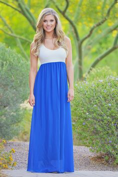 Sunset in Paradise Maxi - Royal from Closet Candy Boutique
