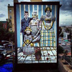 New Street Art Piece In Jersey City By Italian Street Artist Pixel Pancho.
