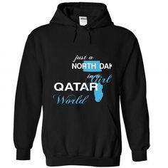 WorldBlue North Dakota-Qatar Girl - #white shirt #tshirt headband. WANT => https://www.sunfrog.com//WorldBlue-North-Dakota-Qatar-Girl-5584-Black-Hoodie.html?68278