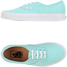 Vans Sneakers (885 NOK) ❤ liked on Polyvore featuring shoes, sneakers, vans, blue, light green, blue shoes, light green shoes, vans footwear, flat sneakers and round cap