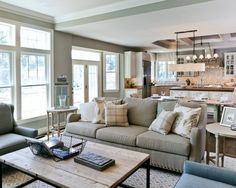 Living Room Open Floorplan Design, Pictures, Remodel, Decor and Ideas - page 5