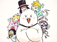 One Piece, Hattori, Penguin, Doflamingo, Lucci, Marco, Pell
