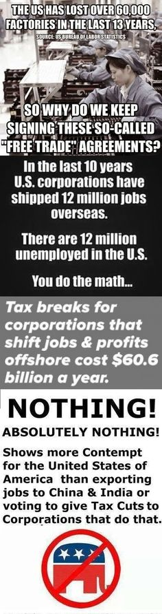 Tax breaks for offshoring jobs needs to end NOW!