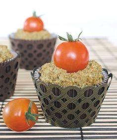Cupcake Salgado de Parmesão e Pesto
