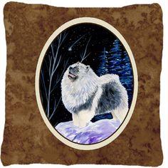 Starry Night Keeshond Indoor/Outdoor Throw Pillow