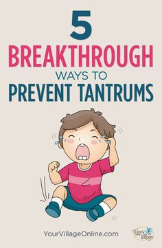 The easiest way to learn how to deal with embarrassing toddler tantrums in public, is with these 5 breakthrough tips for tantrum prevention.