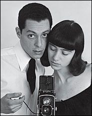 Actor and photographer ALLAN ARBUS (most recognized as Dr. Sidney Freedman from M*A*S*H, seen here with his first wife, photographer Diane Arbus)