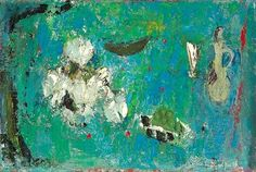 Anne Redpath, Still Life: White Flowers and Green Grapes