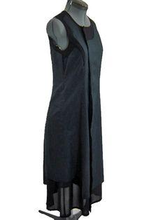 BLACK DRESS ART TO WEAR NOBU NAKANO Japan Size S #nobunakanojapan #AsymmetricalHem #Casual