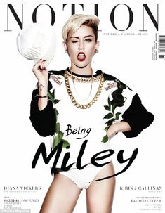 Cover girl: The star Miley Cyrus graces the cover of the magazine in a pair of knickers and a jumper Miley Cyrus 2013, Miley Cyrus Style, Mtv, Justin Bieber, Diana Vickers, Glamour, Pop Singers, Covergirl, Woman Crush