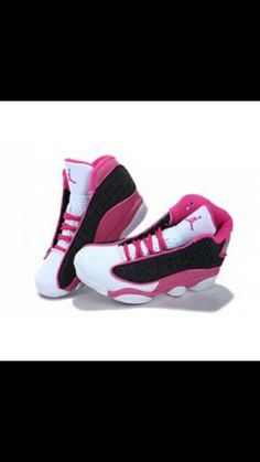 promo code 28cde 79b7a If you wear male Womens Air Jordan 13 (XIII) Retro Pink Black White , it  could possibly offer you with good luck.The Womens Air Jordan 13 seems more  ...