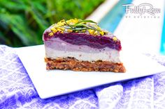 Raw Vegan Lavender Cheesecake /skip cashews to make low-fat/