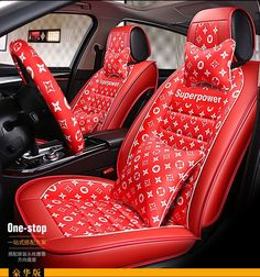 Buy Wholesale Classic Leather LV Print Car Seat Covers Universal Pads Automobile Seat Cushions Pillows - Red from Chinese Wholesaler Cool New Gadgets, Car Gadgets, Jordan Shoes Girls, Girls Shoes, Diy Clothes Bag, Nike Shoes Blue, Cool Car Accessories, Girly Car, Top Cars