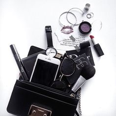 Whats In My Bag Flat Lay