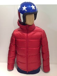Aspesi #red #jacket + Dmd #helmet #americandream #FallWinter #collection
