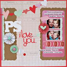 'I Love You' Scrapbook Page