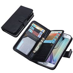 DE+JI+Wallet+PU+Leather+Case+For+Samsung+Galaxy+S6+edge/S6/S5/S4+With+9+Card+Slot+(Assorted+Colors)+–+USD+$+13.99