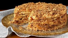 Strudel, Bolo Russo, Napoleon Torte, Twix Cake, Condensed Milk Desserts, Russian Cakes, Cake Recipes, Dessert Recipes, Serbian Recipes
