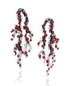 Anna Hu Haute Joaillerie Winter Plum Earrings