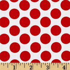 Peppermint Penguin Dot Red from @fabricdotcom  Designed by Lucie Crovatto for StudioE Fabrics, this cotton print fabric is perfect for quilting, apparel and home decor accents. Colors include red and white.